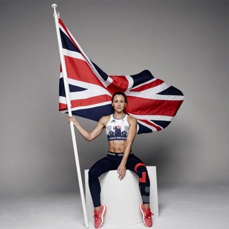 Olympic Heptathlete Jessica Ennis-Hill.  Adidas Team GB kit by Stella McCartney (JJOO de Río 2016).