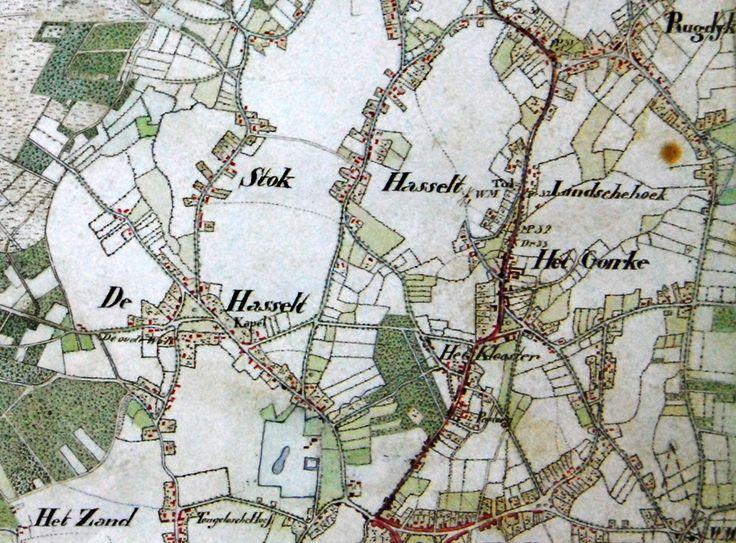 De Herdgang Hasselt en omstreken op de plattegrond van 1834