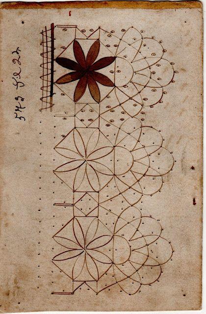 Patrones antiguos de encaje a bolillos, Francia, Siglo XIX - Doris…