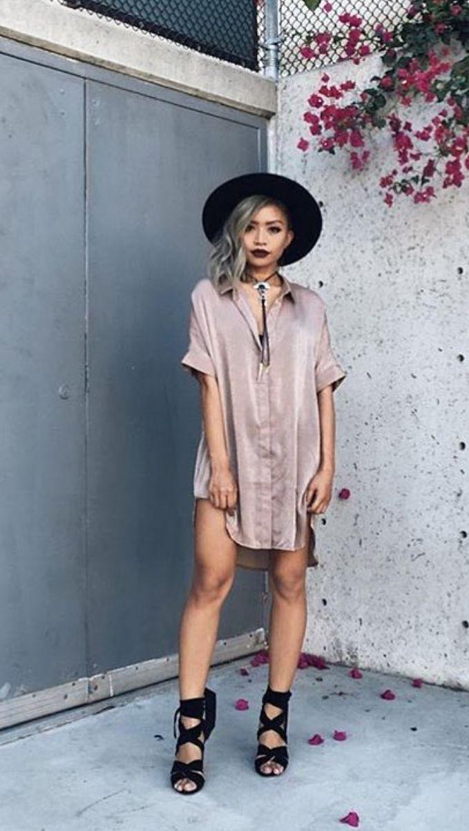 Toby Heart Ginger - Selena Tee Dress - Mocha - Restcoked