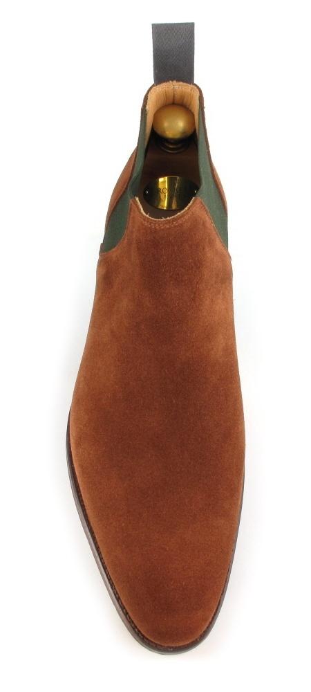 Crockett & Jones Cranford Plain Front Suede Chelsea Boot