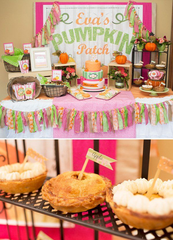 Little Pumpkin Birthday Party Dessert Table