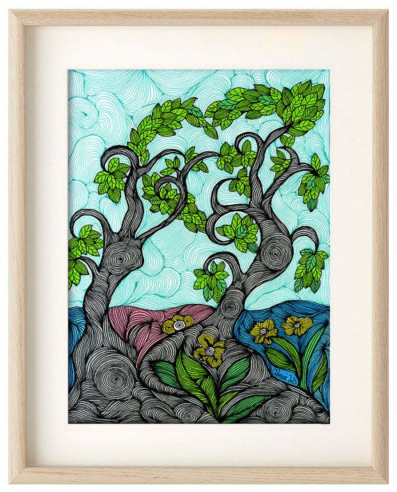 Trees in Love by Athena Kilimantzou