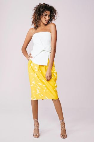 Buy Yellow Jacquard Tulip Skirt from the Next UK online shop