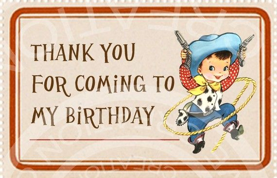 Vintage Cowboy Cowgirl West Wild Birthday Easter Tea Party Children invitation Thank You Label Tags Digital Collage Sheet Images Sh053. $3.50, via Etsy.
