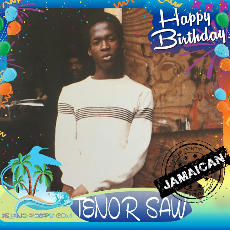 "Happy Birthday Tenor Saw!!! Jamaican born Dancehall Singer in the 1980s, considered one of the most influential singers of the early digital reggae era. His best-known song was the 1985 hit ""Ring the Alarm"" on the ""Stalag 17"" riddim!!! Today we celebrate you!!! #RIP12/2/66- 8/88 @TenorSaw  . . . #TenorSaw #islandpeeps #islandpeepsbirthdays #RingTheAlarm #PumpkinBelly #GoldenHen #Fever #LotsofSign #NoWorkOnaSunday"
