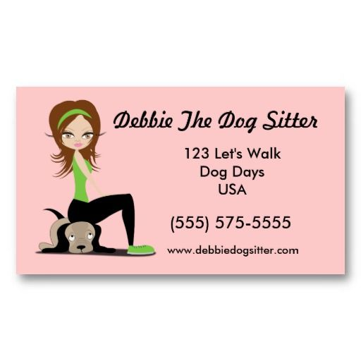 Pet Sitting Business Cards Freeletterndby