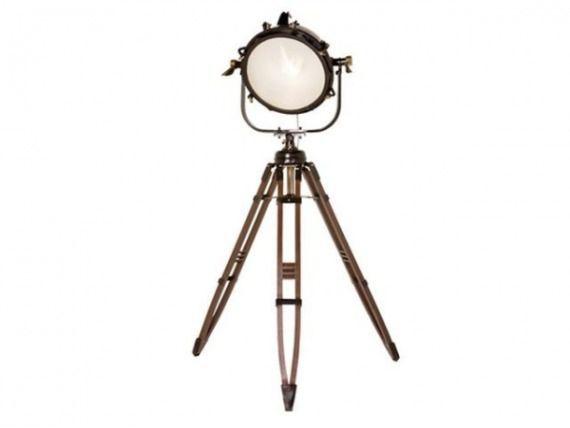 Floor Lamp Jumbo Spot Brass 228cm