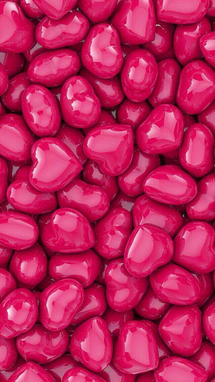 Candy Hearts   Сердце обои, Обои для телефона, Обои для iphone