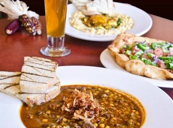 Pueblo Harvest Cafe -- Best Navajo Taco in ABQ -- Also: atole, blue corn onion rings, Jemez enchilada, etc.