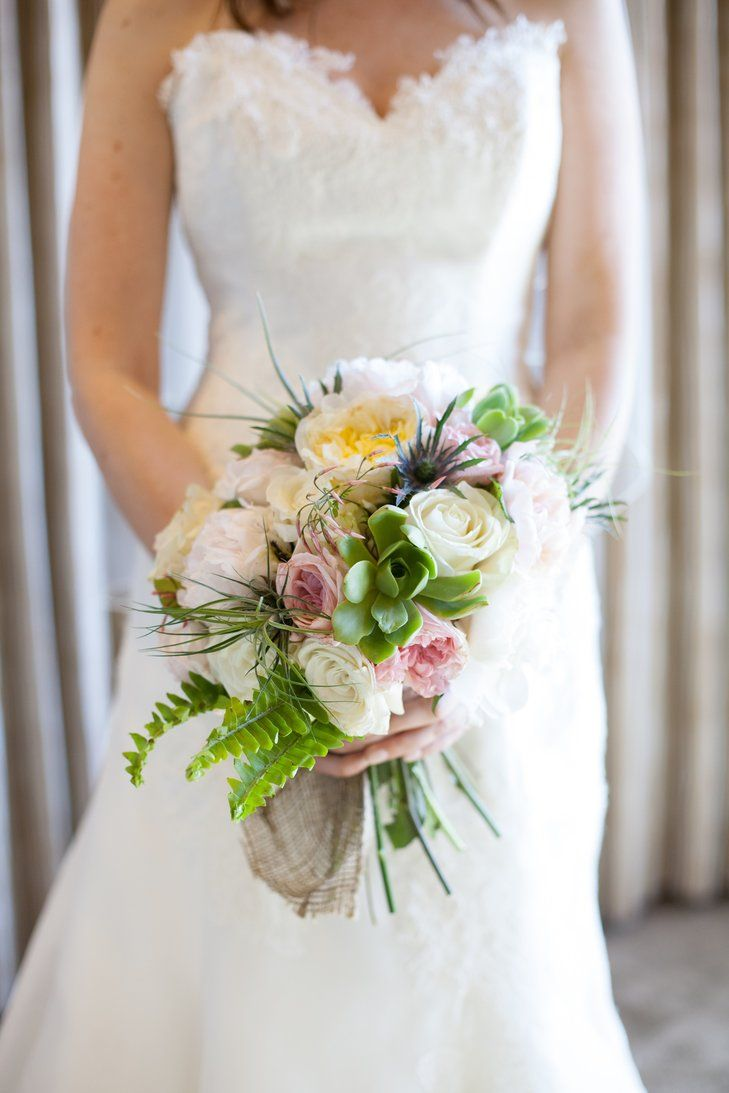 Green, White and Pink Bouquet | Peer Johnson Professional Wedding Photography https://www.theknot.com/marketplace/peer-johnson-professional-wedding-photography-big-sur-ca-382881 | Kate Healey Big Sur Flowers https://www.theknot.com/marketplace/kate-healey-big-sur-flowers-big-sur-ca-331685 |