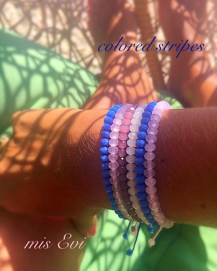 Colored stripes!!!! Handmade bracelets
