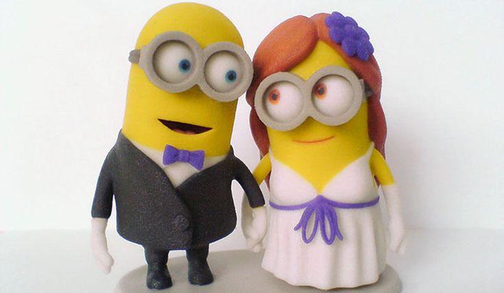Ein Kunstwerk für die Ewigkeit: Manuels Minions-Hochzeitfiguren. (Copyright: Manuel Poehlau)