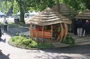 "The ""Pumpkin"" by Julian Christian. Quirky, eye-catching summer building."