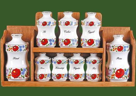Kalocsai Porcelán Manufaktúra - Spice Set