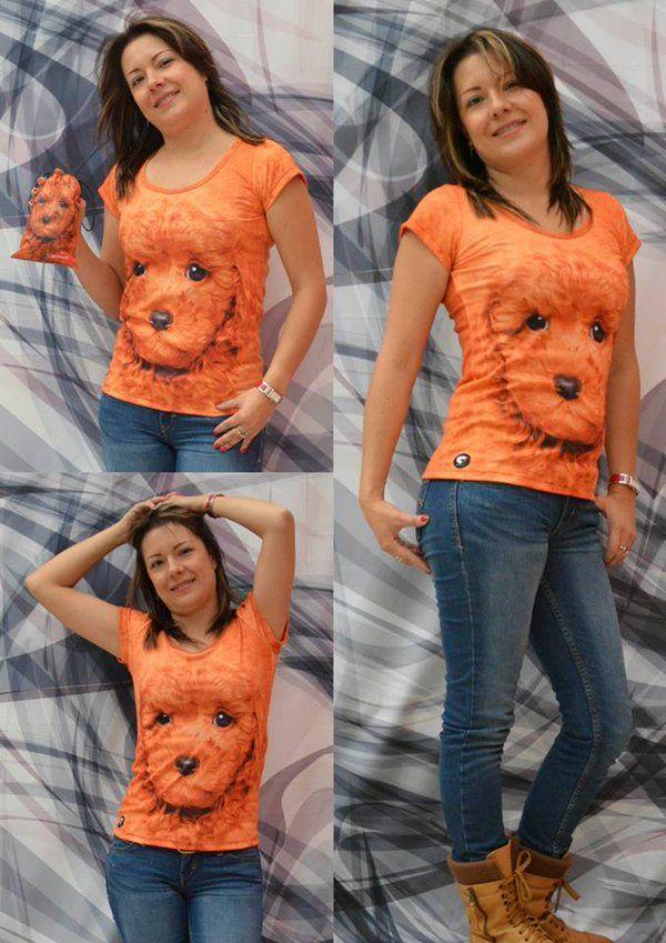 Camiseta perro poodle puppy- Mujer  Elaborada en %100 poliéster  Precio $ 45.000  Tallas S- M- L Whatsapp 312 393 6893 contacto@subligrafica.com