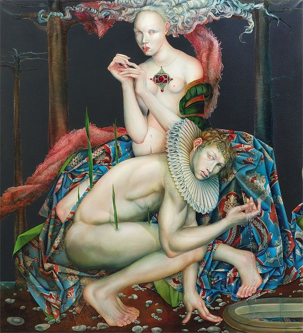 2011 ECO e NARCISO (Narcisses and Nymfe Echo) Joanna Chrobak (b1968 Poznan, Poland)