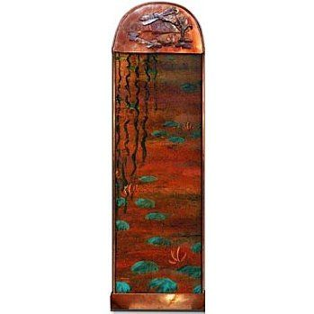 Hand Painted Wall Water Features - Dragonfly Wall Water Feature