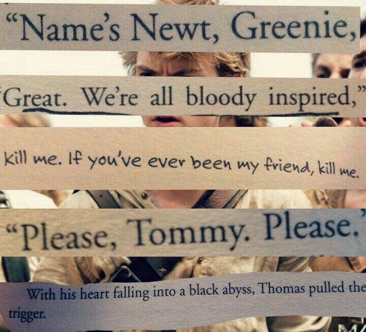 Newt maze runner quotes