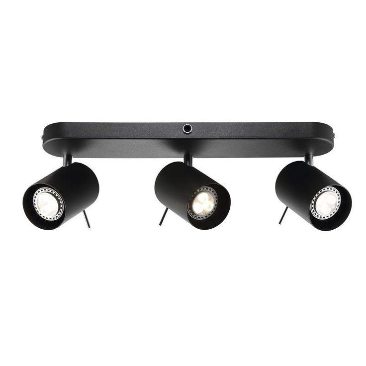 Nordlux Prime 3-Spot Rail Spotlight GU10 - Black