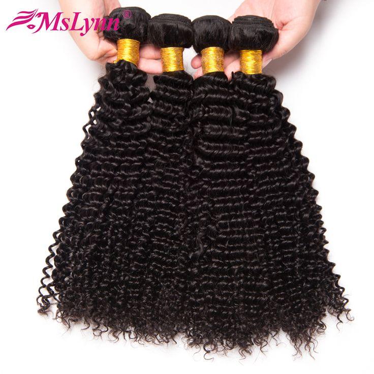 Peruvian Hair Kinky Curly Weave Human Hair Bundles 10-28inch Non Remy Hair Bundles 1pc Mslynn Hair Extension Machine Double Weft