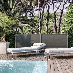 Giardino e terrazzo-Composizione Premium 2 pannelli grigio e palo grigio L 303 x H 115, da avvitare-35904883