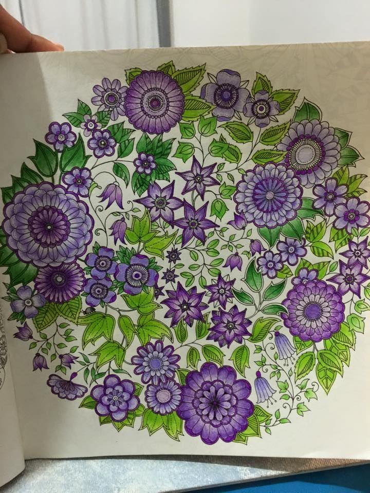 "Johanna Basford ""Secret Garden"" - Floral Mandala"