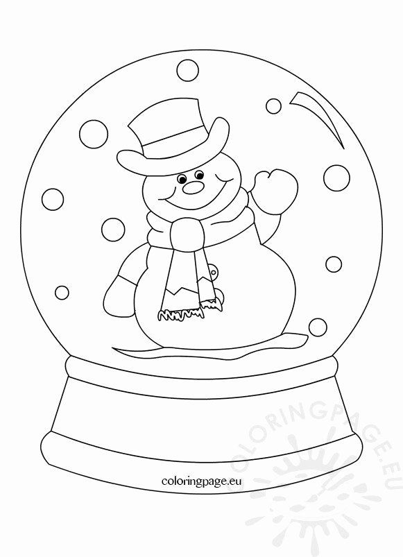 Snow Globe Coloring Page Inspirational Snowglobe Clipart Black And White Coloring Page In 2020 Snowman Coloring Pages Christmas Coloring Pages Snow Globes
