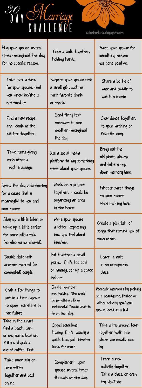 30 Day Marriage Challenge (scheduled via http://www.tailwindapp.com?utm_source=pinterest&utm_medium=twpin&utm_content=post134946443&utm_campaign=scheduler_attribution)