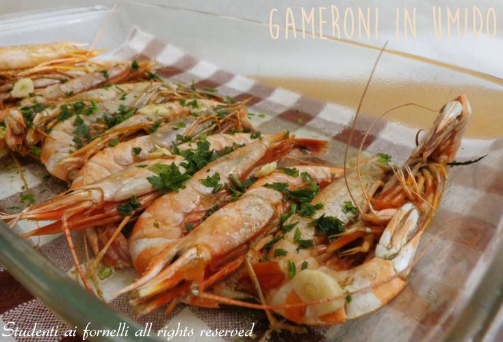 gamberoni in umido ricetta secondo di pesce al microonde forno o padella
