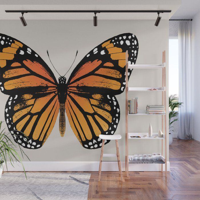 Buy Monarch Butterfly Wall Mural By Eclecticatheart Worldwide Shipping Available At Society6 Com Just One Of Milli Wall Murals Diy Butterfly Wall Wall Murals