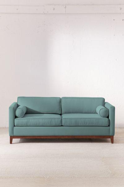 Piper Petite Microfiber Sofa | Urban Outfitters  Sitting area in grey