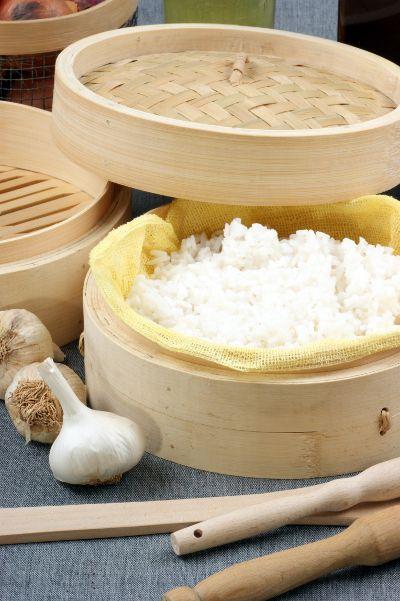 Cuisson vapeur du riz
