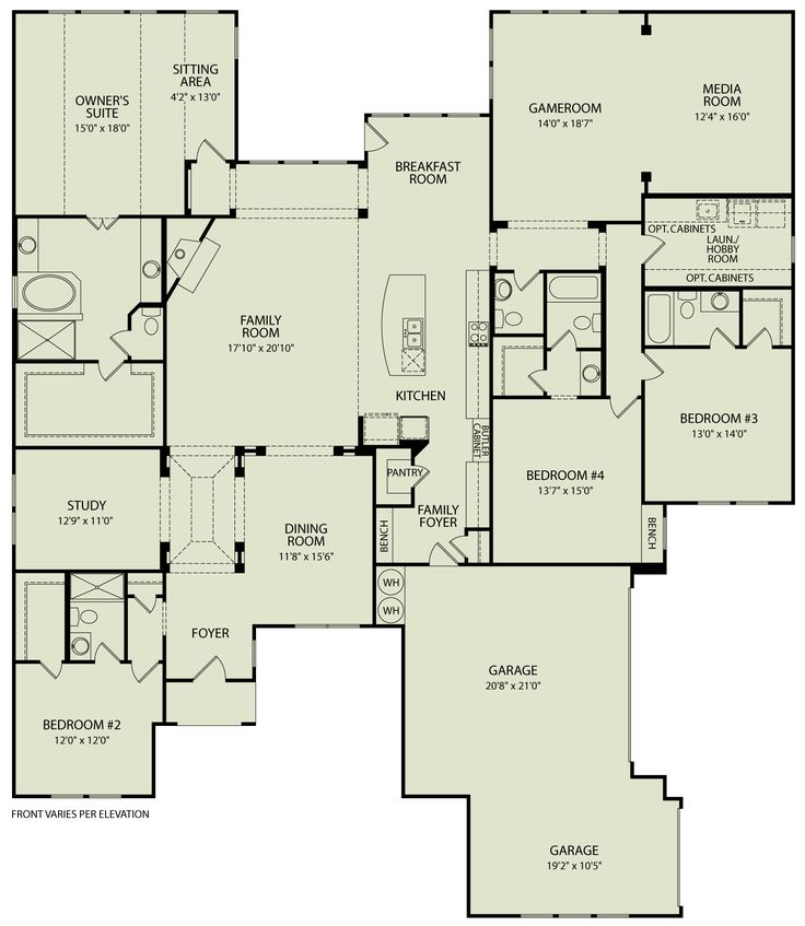 LAUREN III, 125 | Drees Homes Interactive Floor Plans | Custom Homes without the Custom Price