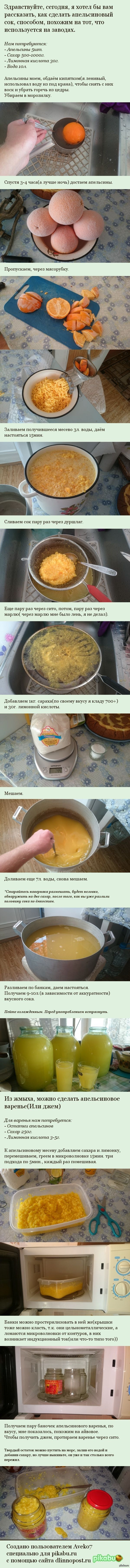 Десять литров сока из пяти апельсинов! И апельсиновое варенье!