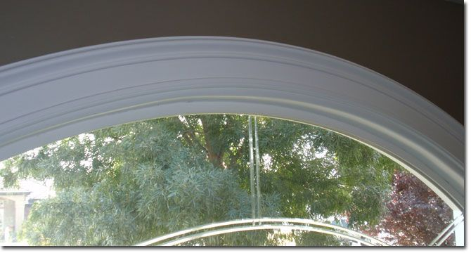 Tutorial on how to achieve arched molding using standard poly trim.
