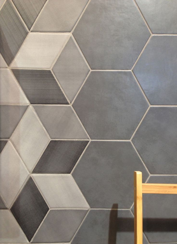 The Hex tiles, part of the CONCRET ROMA collection from Natucer, work for the walls and floors. The tiles come textured and in an array of neutral colors letting you create your own unique geometric pattern.