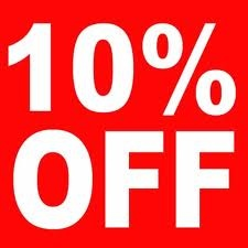 10% off EVERYTHING STARTING FROM NOW until THURSDAY 08/11/2012