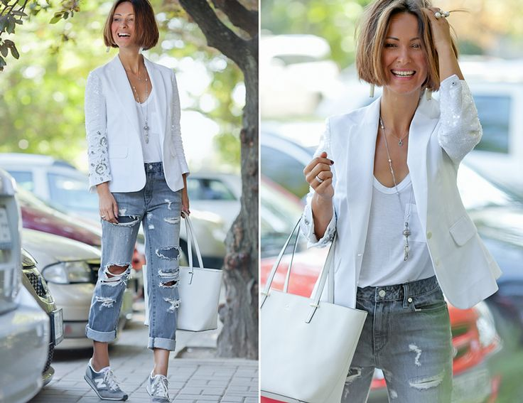 grey ripped jeans Paper Denim & Cloth