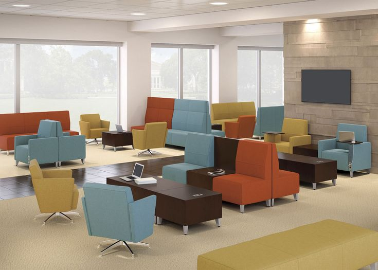 National Office Furniture Collaborative Lounge Seating And