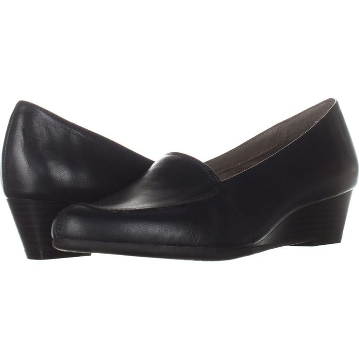 Aerosoles Lovely Slip-On Low Wedge Loafers    #aerosoles #slipon #loafers #wedge #heels #kittenheels #work #businesscasual #professional #workclothes #outfit #shoes #shopping #style #trend #retail #fashion #womensfashion #love