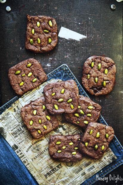 Шоколадное печенье с фисташками от Тани - honeytanie.com