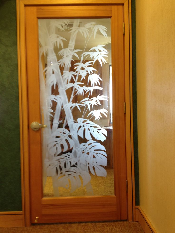 28 best images about etched glass doors on pinterest banana leaves etched glass and bamboo design Door design for kitchen