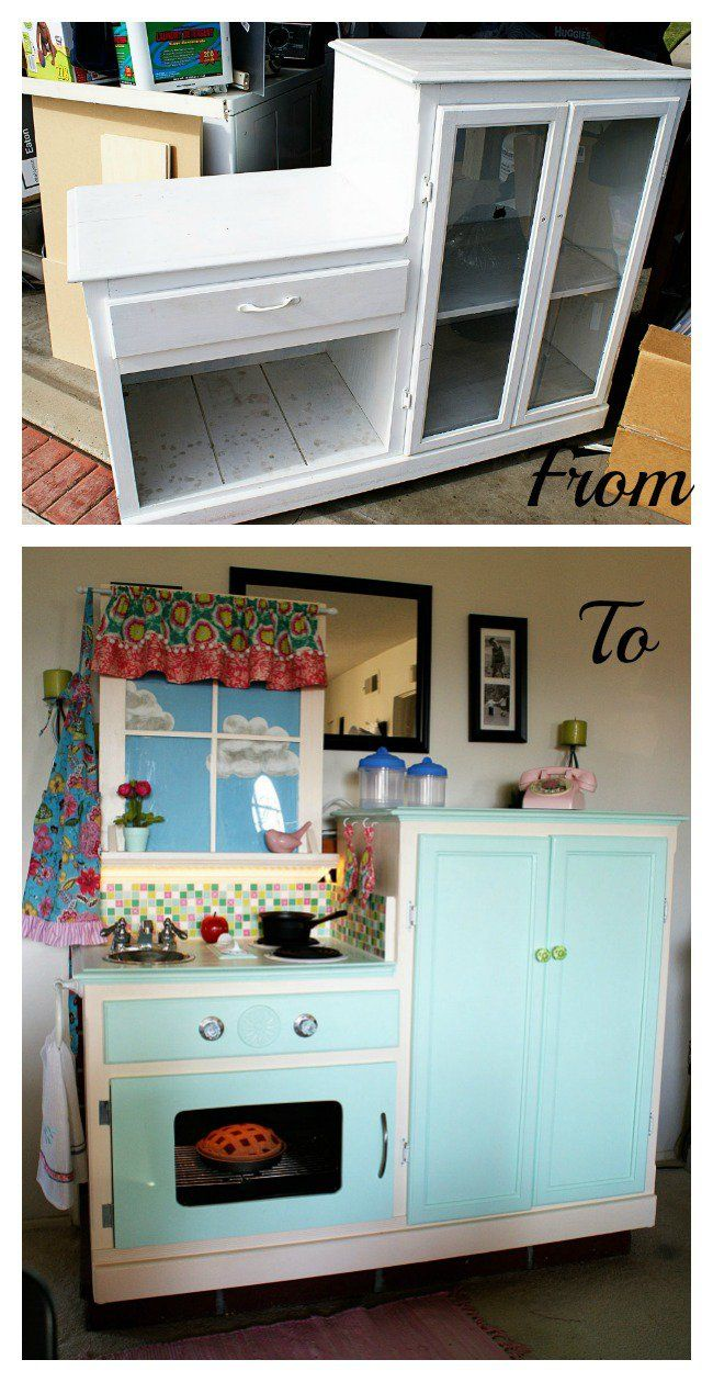 Play Kitchen From Old Furniture 17 Best Images About Kids Repurposed Renewed For Them On