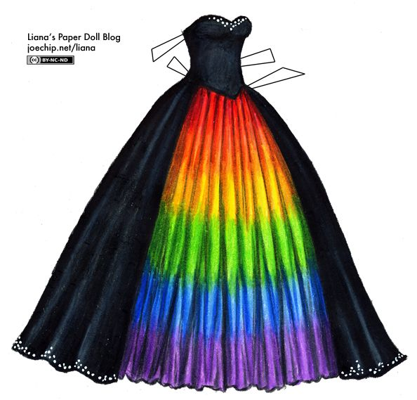 Find This Pin And More On One Day Wedding Black Masquerade Gown With Rainbow Underskirt