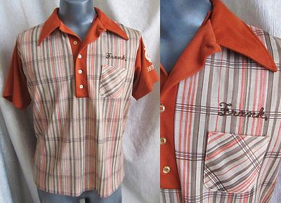 Vintage #bowling shirt, 1979-80, king #louie, #polyester plaid, earth tones,  View more on the LINK: http://www.zeppy.io/product/gb/2/142124178887/