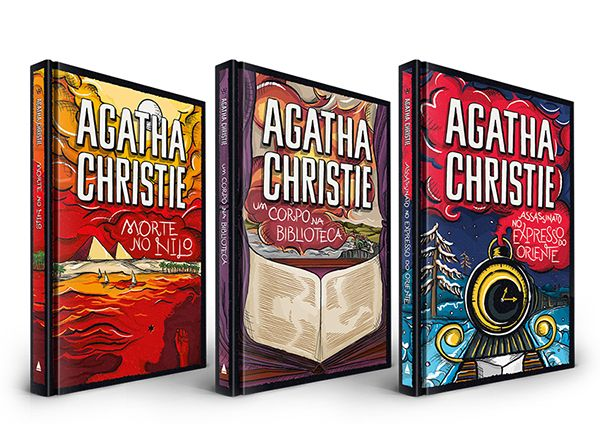 Agatha Christie Book Cover on Behance