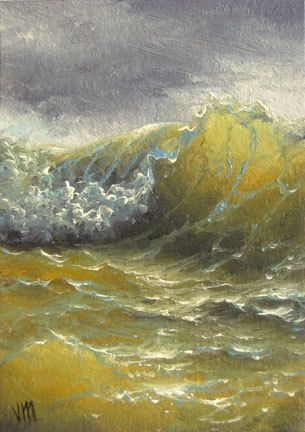 """372 - """"The Wave"""",  ACEO  open edition print"""