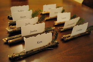 Lindsey Edits: Rustic Place Card Holders