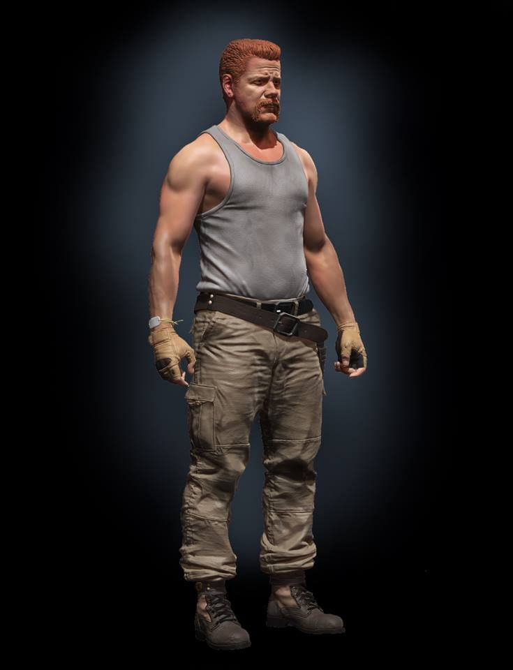 Steve Lord Art | Abraham from Walking Dead for Mcfarlane Toys. no scans or MD just sculpted in Zbrush using zspheres, extracts and polypaint, comp in photoshop. you can see it at spawn.com